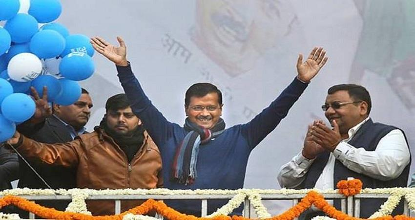 kejriwal slams on bjp after aap wins 4 seats in mcd bypoll kmbsnt