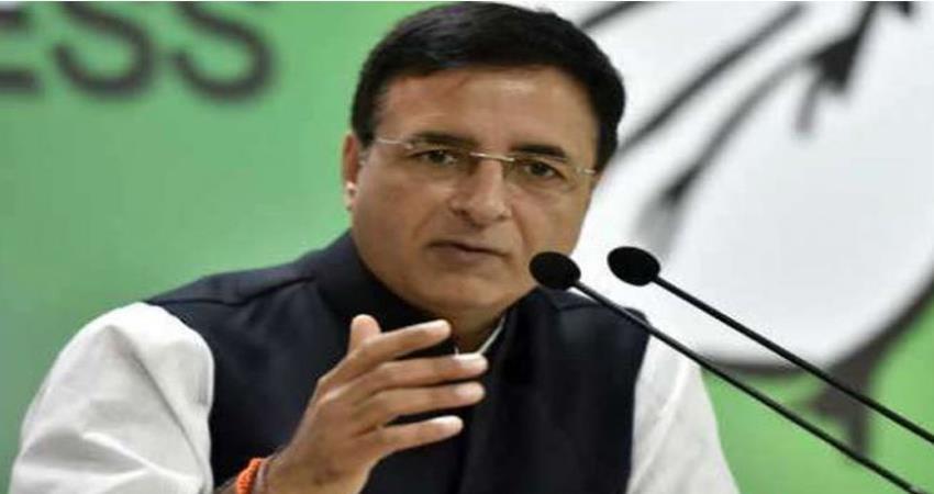 trump india visit congress randeep-surjewala questions modi govt over us taliban deal
