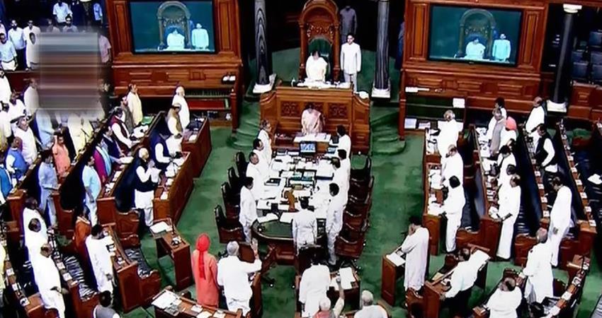 ruckus of opposition members in lok sabha proceedings adjourned at 12 o''''''''clock prshnt