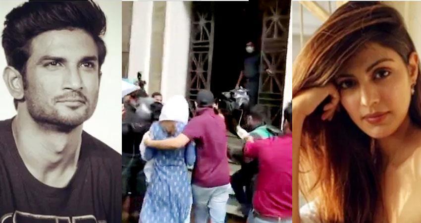 rhea chakraborty reaches ed office in sushant singh rajput money laundering case aljwnt
