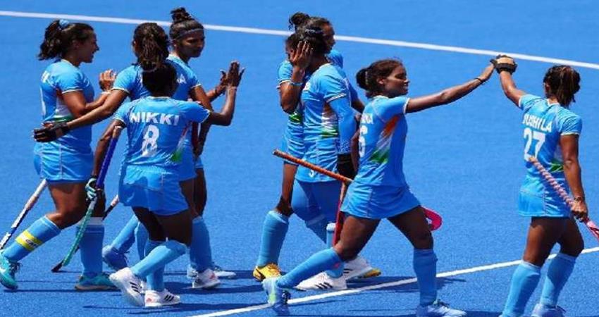 tokyo olympics: indian women hockey team won with vandana hat trick prshnt
