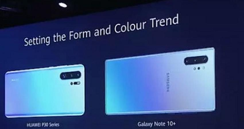 huawei mocked samsung said the company copying our smartphone designs