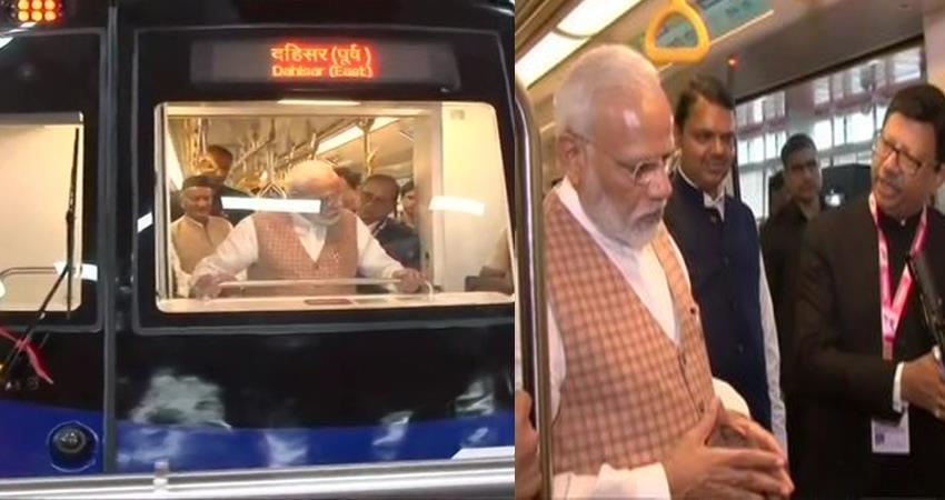 PM Narendra Modi onboard a state of the art metro coach