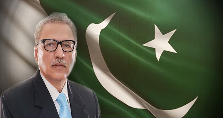 pakistan president arif alvi threatens jihad on independence day