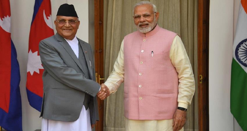 nepal pm kp oli said very good relations with india sohsnt