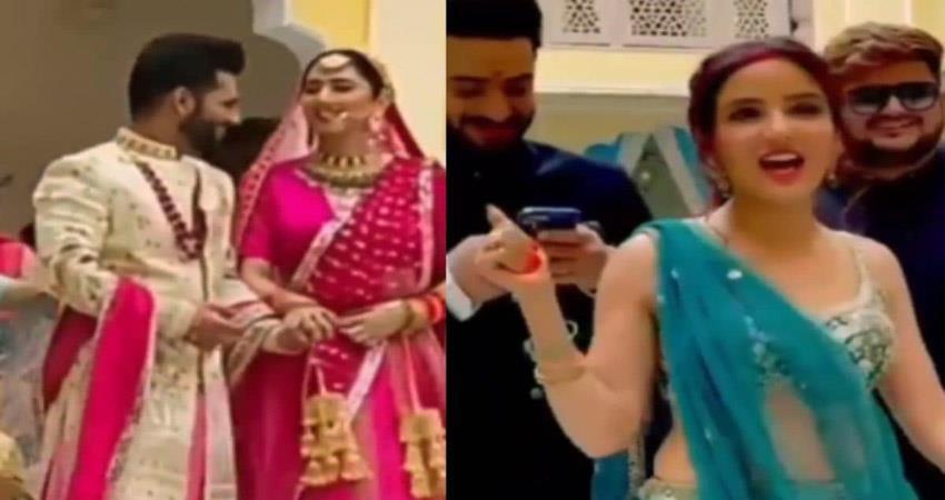 rahul vaidya disha parmar wedding video went viral sosnnt