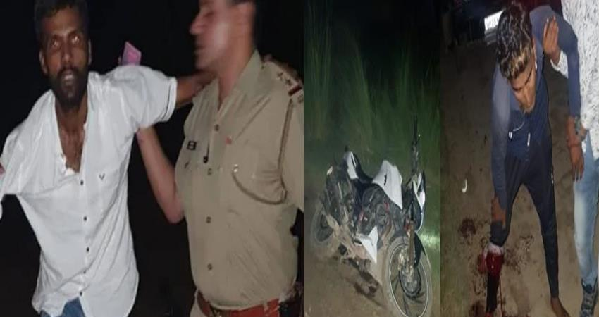 operation clean continues in ghaziabad one crook and one policeman injured in encounter