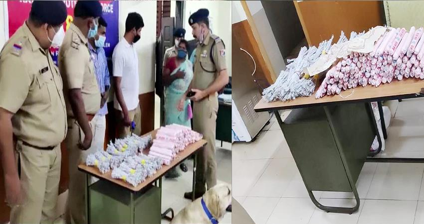 Kerala Woman caught carrying 100 gelatin sticks and 350 detonators by train PRSHNT