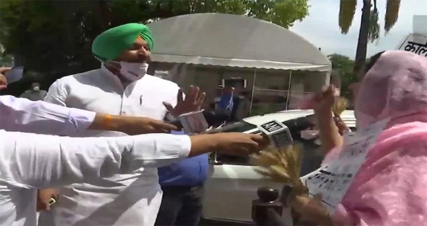 heated argument between harsimrat kaur and congress mp in parliament musrnt