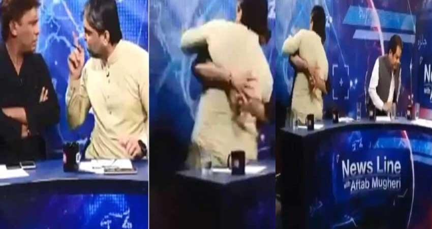 pak-minister-and-reporter-fight-in-live-show