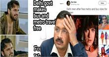 दिल्ली मेट्रो की फ्री सफर सेवा पर यूजर्स ने कुछ इस तरह उड़ाया केजरीवाल का मजाक