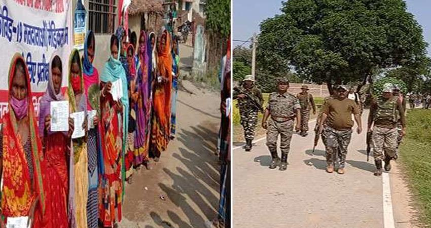 fear of naxalites people did not come out for voting in gaya cast their votes prshnt