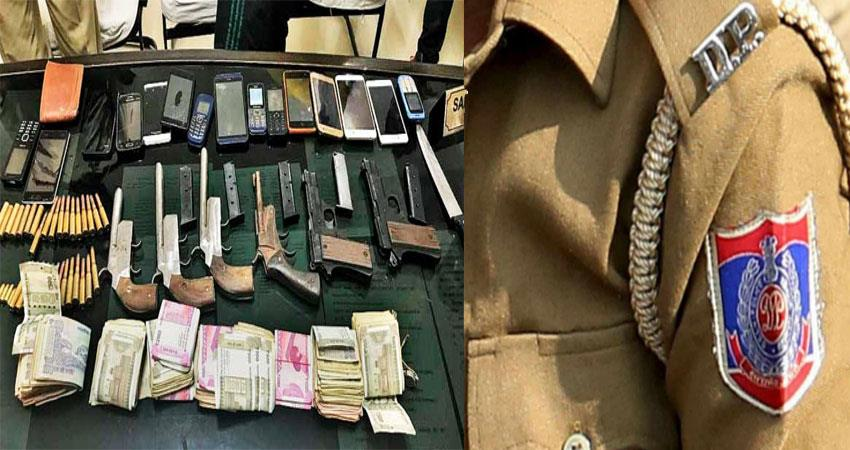 delhi police caught notorious don 6 miscreants