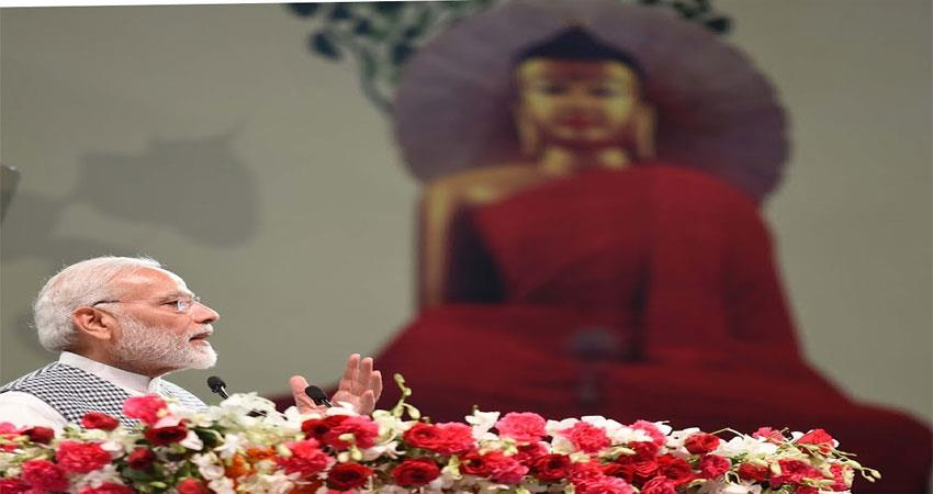 teachings of lord buddha today more relevant- pm modi