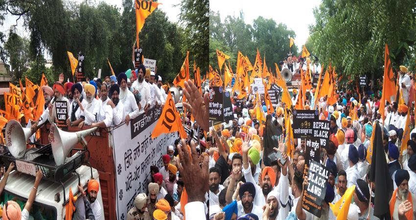 akali dal march against agricultural laws, public upset due to traffic diversion prshnt