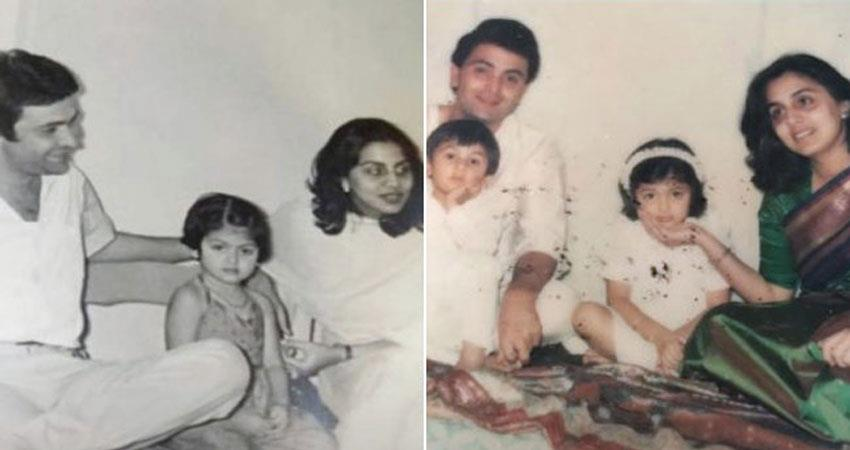 riddhima kapoor share childhood photo rishi kapoor anjsnt