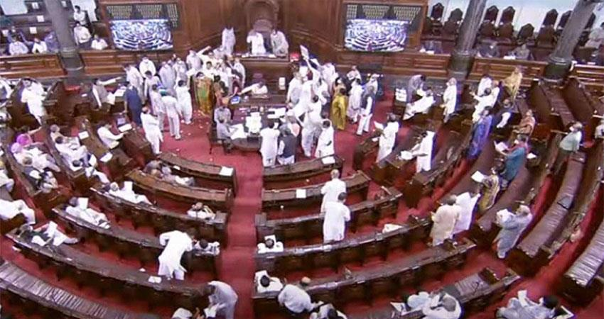 pm modi hurt by the conduct of the opposition in parliament musrnt