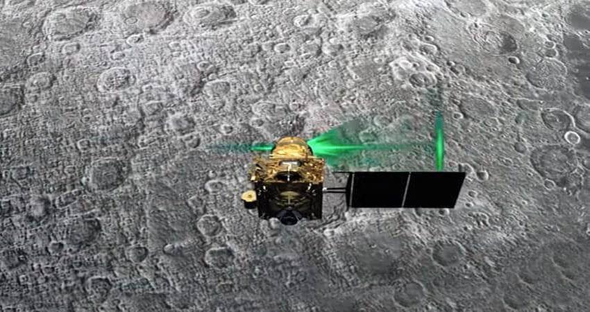 chandrayaan-2 lander vikram stand on moon
