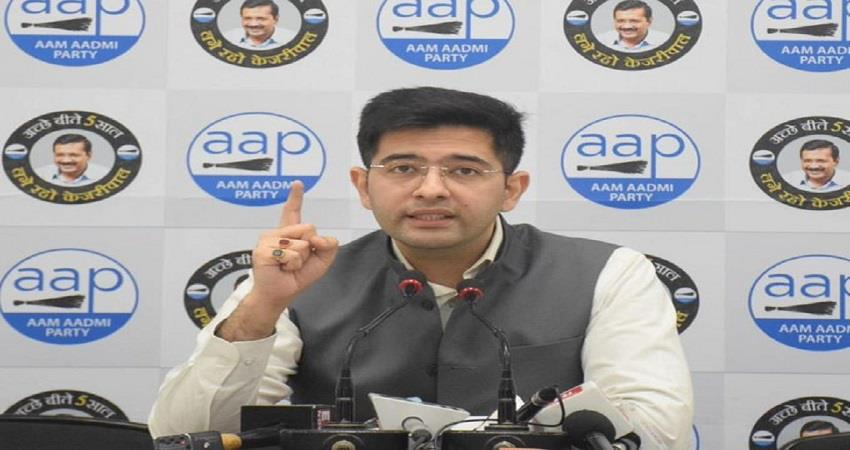 AAP Raghav Chadha slams on BJP over ED Notice to AAP National Secretary KMBSNT