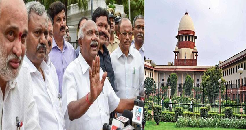 karnataka rebel mlas:sc we will consider the issue on tuesday