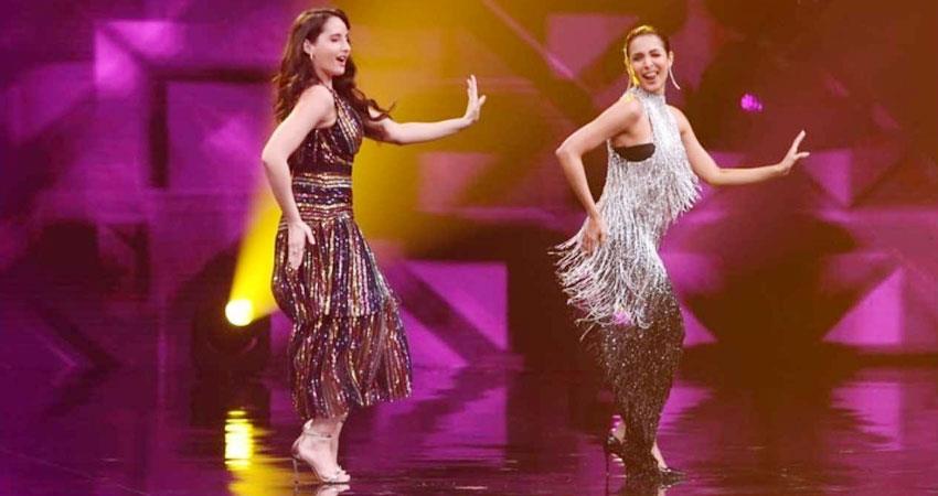 malaika arora and nora fatehi dance on munni badnam hui song watch viral video aljwnt