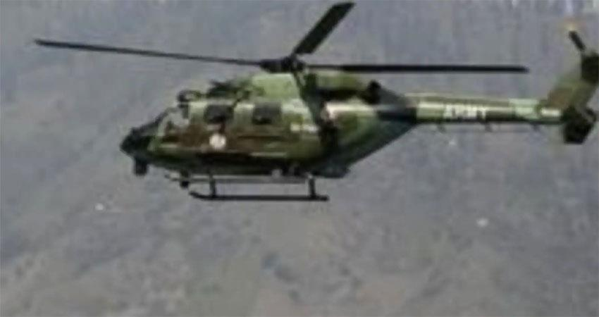 army helicopter crashes near pakistan border