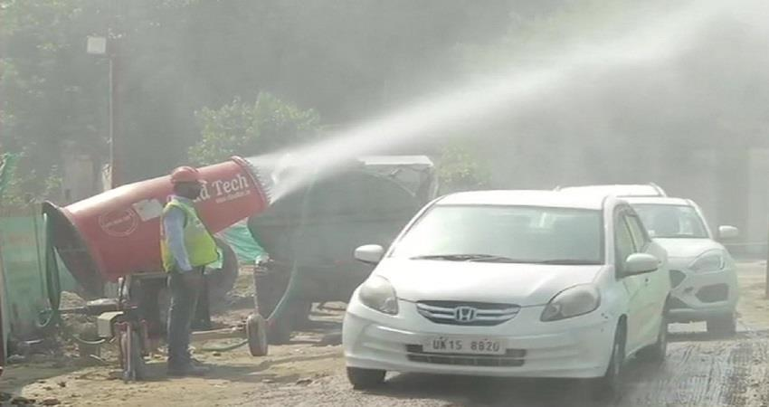 Anti smog guns deployed at large construction sites in Delhi to control pollution KMBSNT