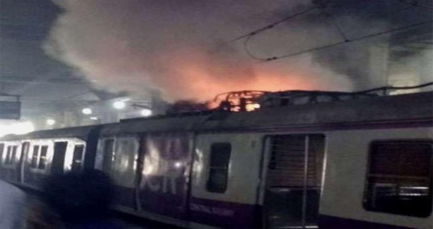 MUMBAI: Local train fire caused chaos all passengers safe