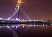 शाम ढलते ही जगमगा उठेगा सिग्नेचर ब्रिज!