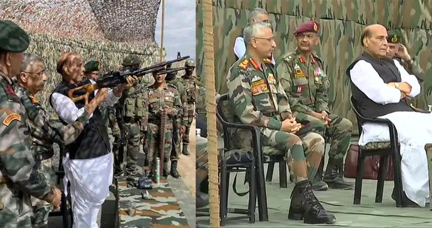 defense minister rajnath singh will take stock of the situation on the lac loc prshnt