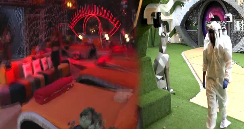 bigg boss house red zone emergency team come home wearing ppe kit anjsnt