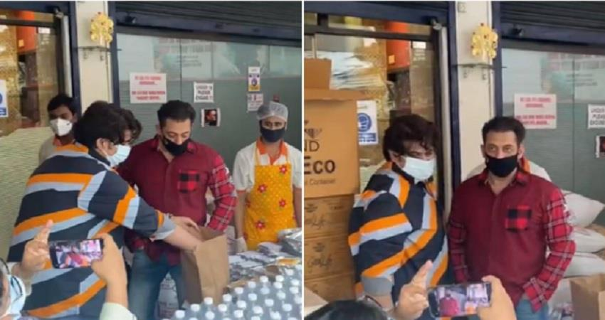 salman khan helping frontline workers and providing them food during lockdown jsrwnt