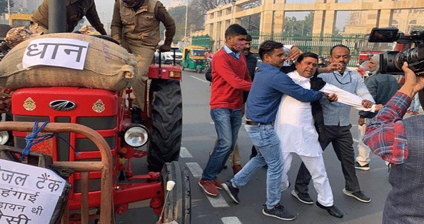 uttarpradesh budget 2021 assembly sp yogi adityanath protest sobhnt