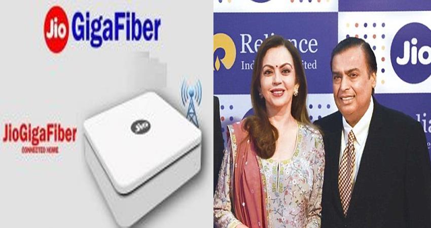 jio giga fiber 699 rupees per month for internet free phone calls hdtv and dish