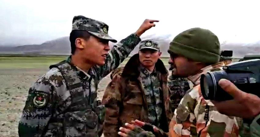 clash between indian- chines army musrnt
