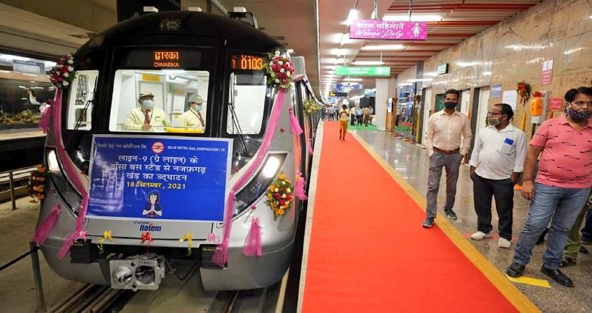 najafgarh-dhansa bus stand metro corridor inauguration today kmbsnt