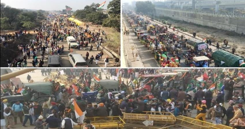 farmers descended on the streets of delhi with thousands of tractors parade pragnt
