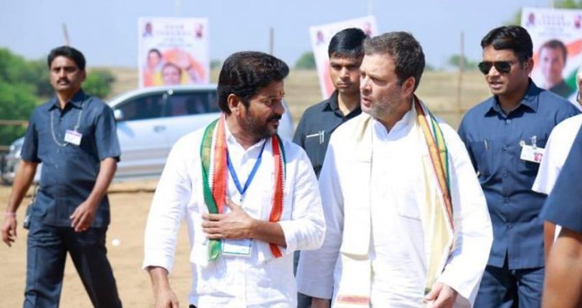 revanth reddy stressed on making rahul gandhi congress president prshnt