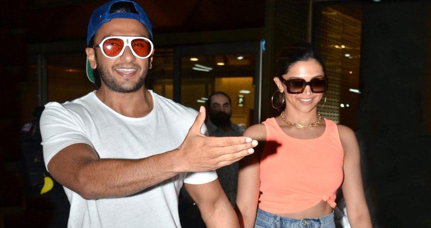 deepika padukone and ranveer singh comes back from vacation