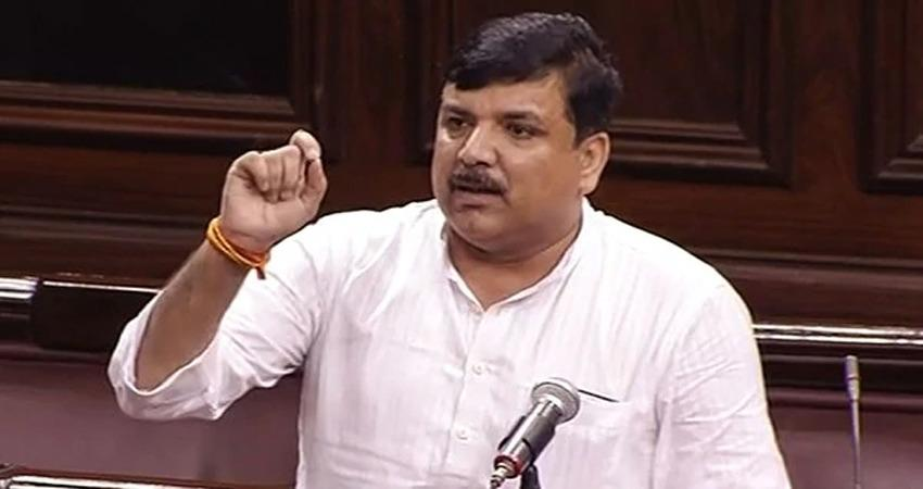 aap mp sanjay singh notice to rajya sabha speaker controversial statement nathuram godse