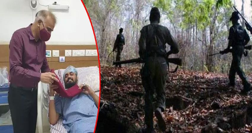 naxal attack balraj singh opens his turban to stop his partner blood anjsnt