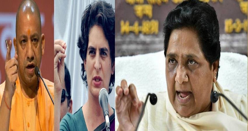 bsp mayawati attack on bjp and congress migrants bus politics uttar pradesh pragnt