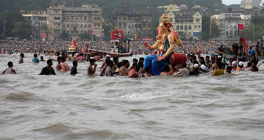 Ganesh Chaturthi Immersion of over 66,000 idols on the fifth day of Ganpati festival in Mumbai