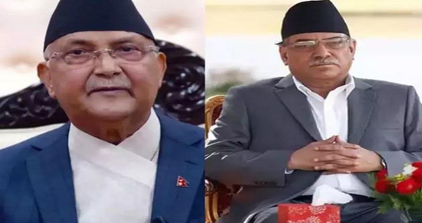 puspha kamal dahal of nepal communist party says party can still split as pm oli prsgnt