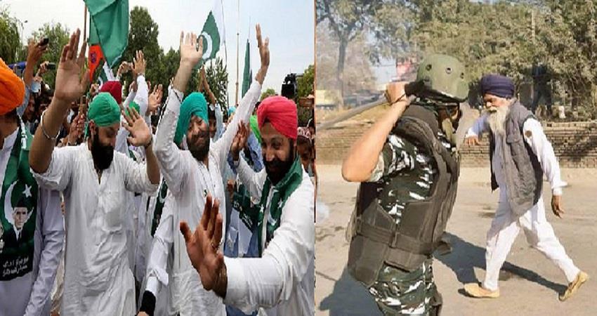 farmers protest at delhi china pakistan hatred propaganda kmbsnt
