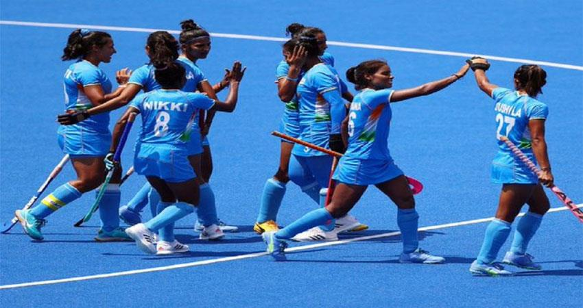 women''''s team in hockey in semi-finals, indians celebrated happiness musrnt