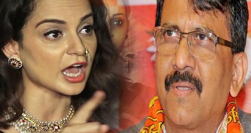kangana ranaut shiv sena open challenge to coming mumbai anjnst