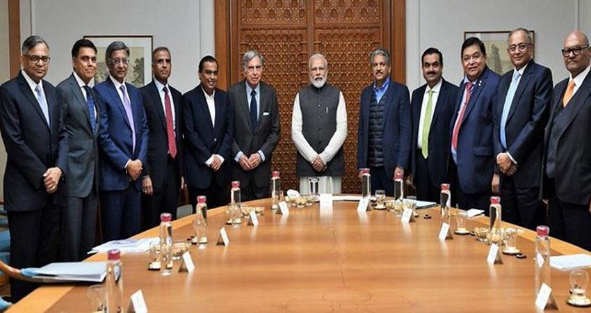 narendra modi busy for general budget with mukesh ambani gautam adani with jnu case