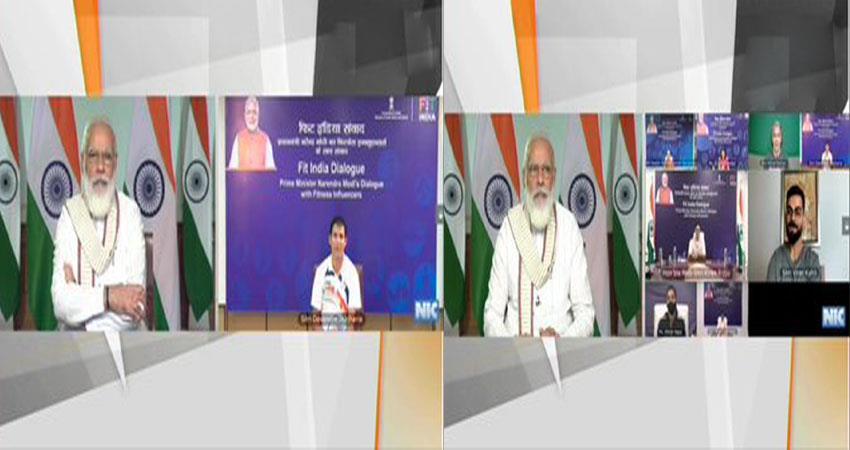 pm modi fit india dialogue: pm modi''''''''s interaction with kohli-soman musrnt