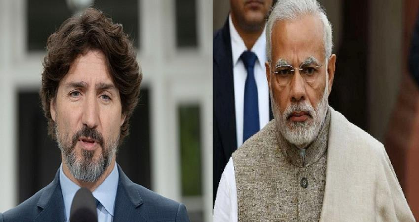 bjp target on canada pm said canada interest indian farmers is very strange pragnt